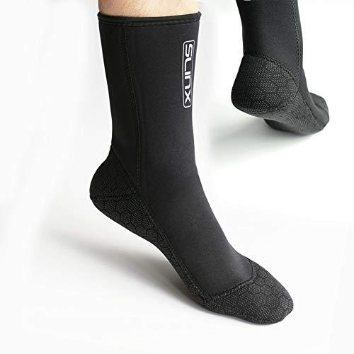 DiNeop Neoprene Scuba Socks Diving Wetsuit Booties for Men Women Kids Youth, 3MM Fin Beach Socks Warm Durable for Rafting Surfing Swimming Snorkeling Kayaking Sailing Wading Water Sports (Black, S)
