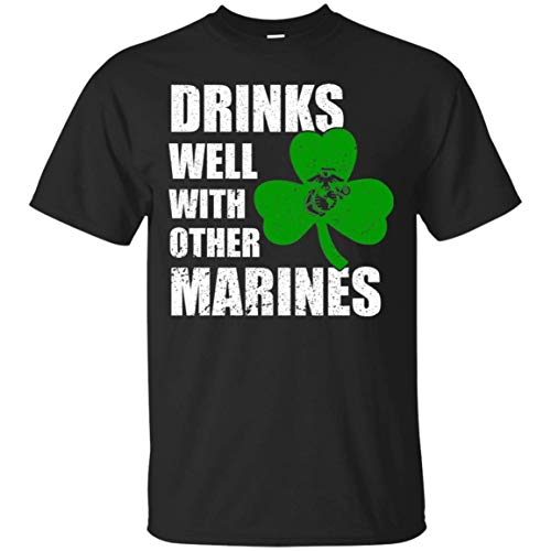 AnkhStore Drink Well with Other Marines Veteran Tshirt for Irish Saint Patrick Black]()