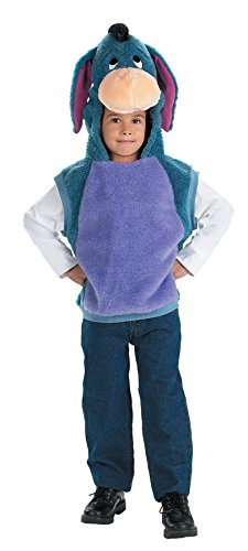 UHC Eeyore Vest Winnie the Pooh Theme Fancy Dress Toddler Halloween Costume, Toddler M (3T-4T)
