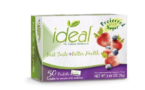 Ideal Sweetener 6 - 50 Count Box = 300 Packets (6 50 count boxes = 300 packets)