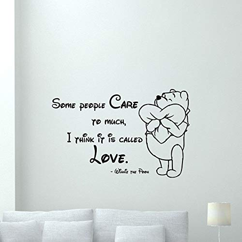 Wall Stickers Art Decor Decals Winnie The Pooh Quote Nursery for Kids Rooms Love Quotess Bedroom ()