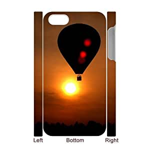 Iphone 4,4S 3D DIY Phone Back Case with Fire Balloon Image