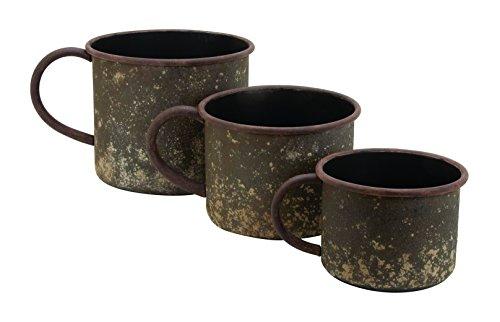 Benzara Planter with Classic Cup Design, Set of 3