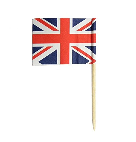 UK | British Flag Toothpicks | National Flags Food Picks for Bento Box Lunch Box(140 Count)