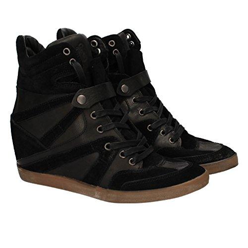 CRIME 38 Sneakers Donna Nero Camoscio Pelle DZ196