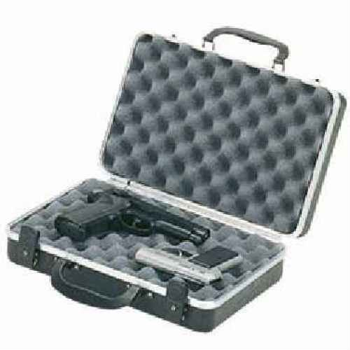 - Deluxe 2-Pistol Case with Two Key Locks in Black