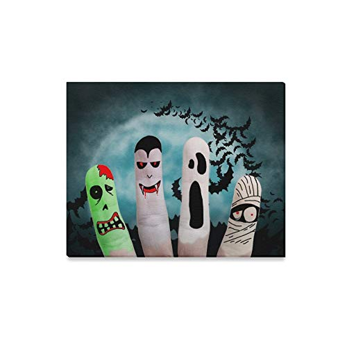 XINGCHENSS Wall Art Painting Painted Finger Monsters Halloween Zombie Vampire Prints On Canvas The Picture Landscape Pictures Oil for Home Modern Decoration Print Decor for Living Room