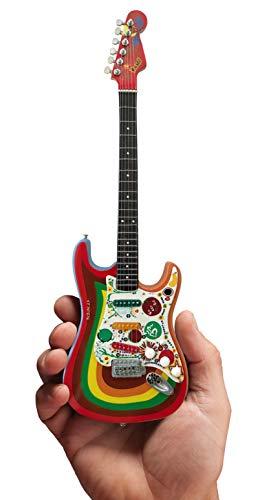 Officially Licensed Mini Fender Strat George Harrison Rocky Guitar Model