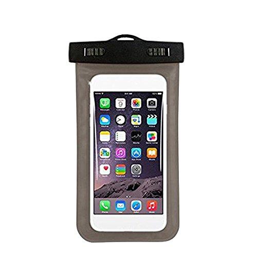 Chen Rui (TM) Estuche Impermeable para Bolsa Prueba de Polvo Estuche Protector para la Natación del Viaje por Teléfono Negro