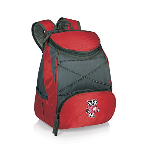 PICNIC TIME NCAA Wisconsin Badgers PTX Insulated Backpack Cooler, Red