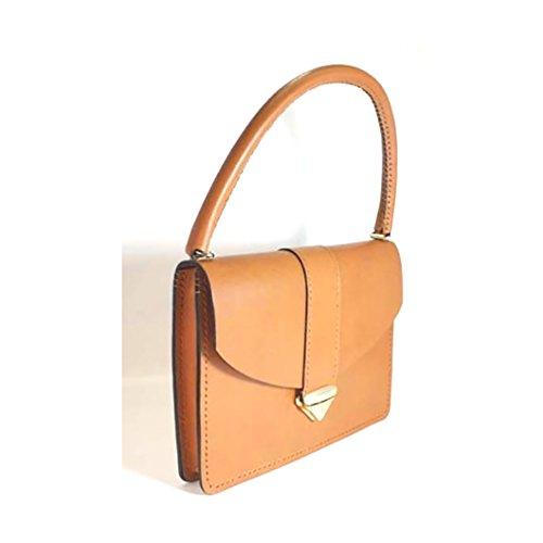 Bridle Leather Purse Handbag 11'' x 8'' x 1.5'' by Marcellino NY Leathercraft