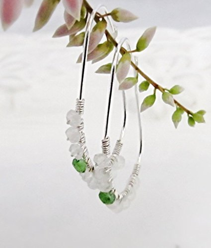 Tsavorite White Earrings - 3