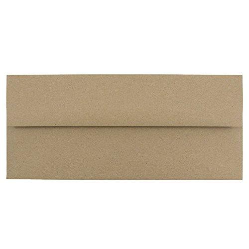 JAM PAPER #10 Business Premium Envelopes - 4 1/8 x 9 1/2 - Brown Kraft Paper Bag - 25/Pack