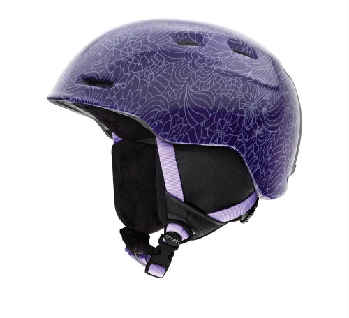 Smith Optics Junior Zoom Helmet (Youth Medium/53-58cm, Violet Jolene), Outdoor Stuffs