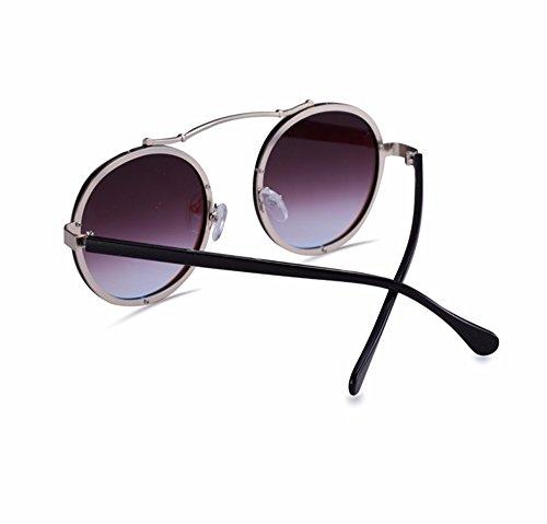 El de El Rosa sol big de marea par bastidor azul mujer gafas gafas redondo Gafas de XIAOGEGE nuevo sol box F7xwUqdx