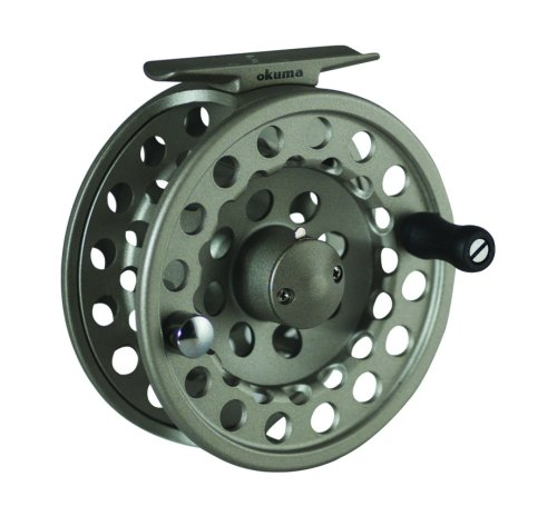 Okuma SLV- 8/9 Diecast Aluminum Fly Reel, Light Silver