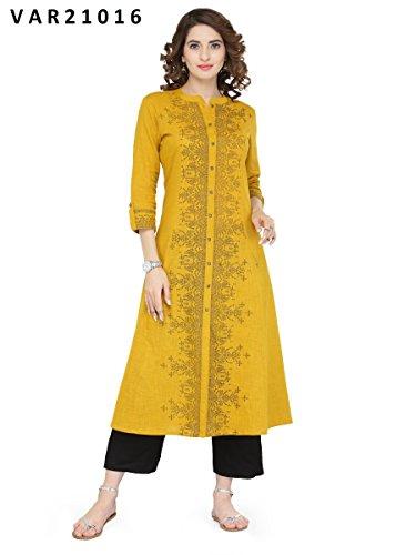 Manas Store Indian Women Designer Kurta Kurti Bollywood Tunic Ethnic Dress Tops Blouse Style (M)