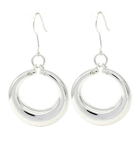 Uni-Classy-Créoles-Boucles d'oreilles pendantes cercle ouvert