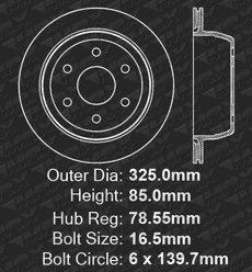 Fits: 2001 01 Chevy Silverado 1500 2WD//4WD Models w// 6 Lugs Rotors /& Single Piston Rear Calipers Max Brakes Rear Supreme Brake Kit KM022042 OE Series Rotors + Ceramic Pads