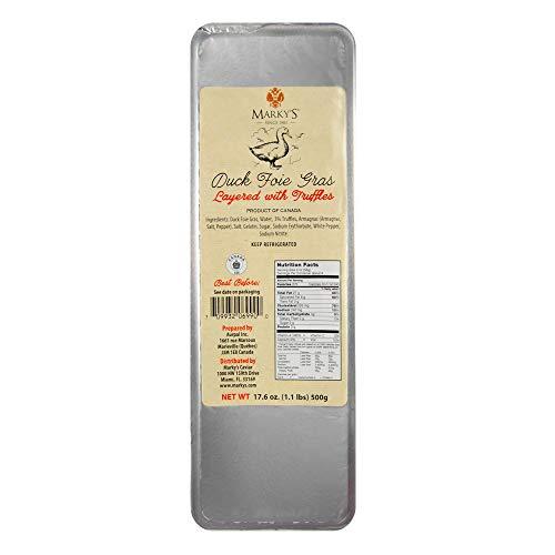 - Marky's Caviar Duck Foie Gras Terrine with Truffles – 1.1 lbs. – Duck Liver Pate Foie Gras