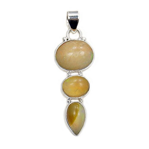 'Eternal Flame' Sterling Silver Rare Natural Ethiopian Opal (Rare Fire Agate Pendant)