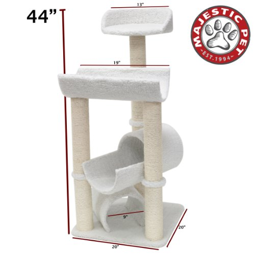 Majestic Pet Products 44 inch Cream Bungalow Cat Furniture C