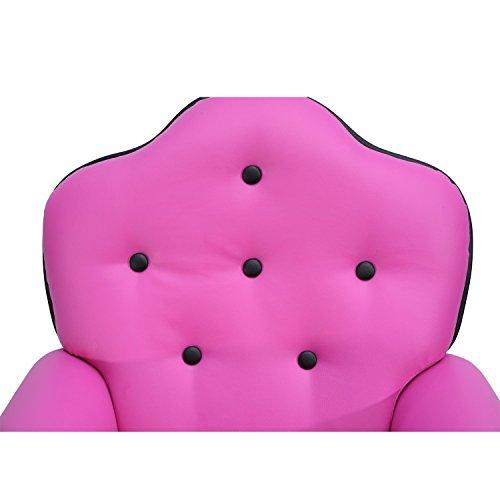 HomCom Kids PU Leather Riveted Sofa Recliner Chair - Rose