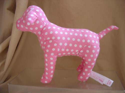 Victoria's Secret PINK Spotted Polka Dot Plush DOG