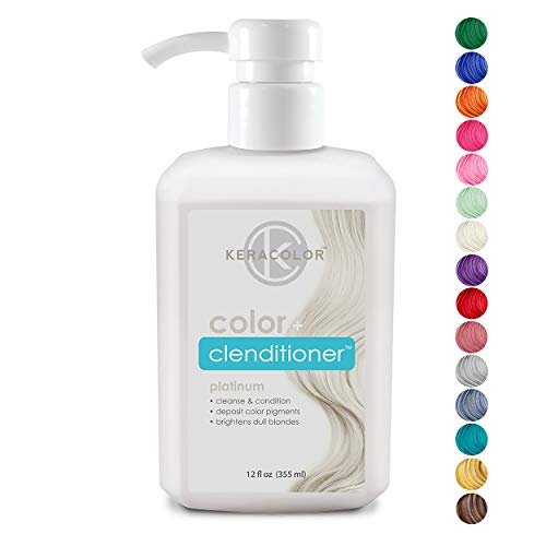 Keracolor Clenditioner Color Depositing Conditioner Colorwash, Platinum, 12 fl. oz.