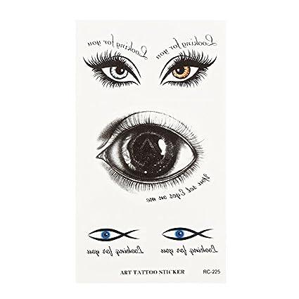 Pegatina de tatuaje para Halloween, ojos de gran escayola y ojos de Weird