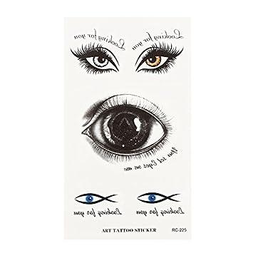 Pegatina de tatuaje para Halloween, ojos de gran escayola y ojos ...