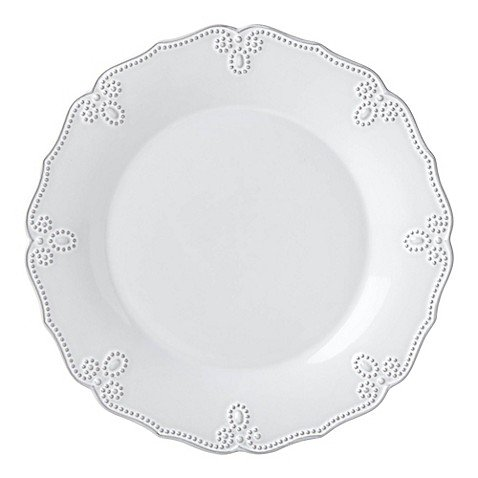 Lenox French Carved Scalloped Dinner Plate in White