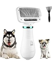 kupet Haartrockner Bürste für kleine Haustier Hunde, 300W geräuscharm Einstellbare Temperatur Hundefön Hundetrockner mit Fellkamm für Hund und Katze