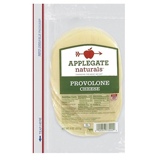 Applegate Naturals Provolone Cheese, 8 Ounce (Pack of 12)