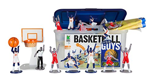 Basketball Guys Playset with 2 Full Teams, 1 Refere, 2 Baskets, 1 Basketball & More