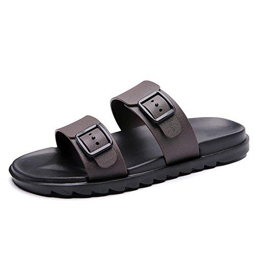 da Traspirante da shoes antiscivolo British Casual Trascina Pure Sandali Style Mens New uomo Due Color indossare morbido spiaggia Marrone 2018 scarpe spiaggia Fondo da per qMwRCtE0q