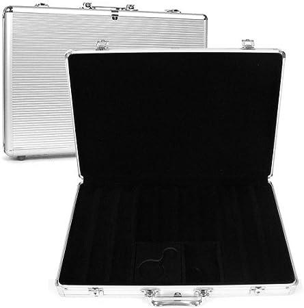 Executive Aluminum Hard Side Trademark Poker 650 Capacity Chip Case