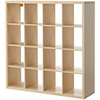 Ikea Kallax Multi Purpose Shelving Unit , Bookcase , Display Case , Birch Effect Brown , Modern