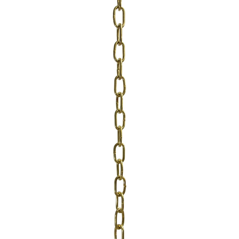 RCH Hardware CH-07W-PB-3 Decorative Solid Brass Chain for Hanging, Lighting-Standard Welded Links