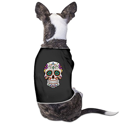 Sugar Skull The Indians Art Cute Sleepwear Dog Costume Dog Shirt Suitable For Little Dogs