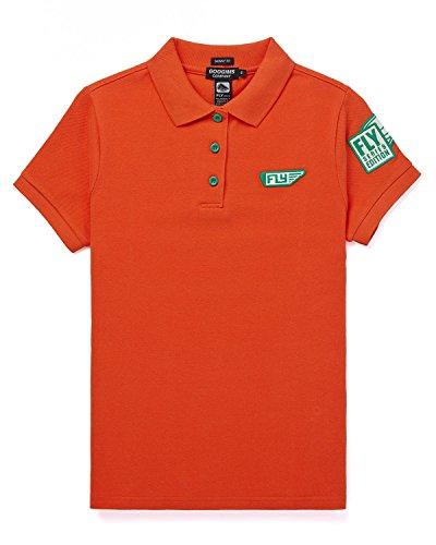 Googims Women's Short Sleeve Polo Shirt M(plus) Orange