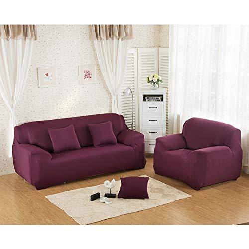 1pcs Corner Elastic Sofa Cover Fabric Stretch Spandex Universal Armchair Furniture Covers Elastic Case on Corner Sofa Slipcover   color 22, Three Seat 190-230cm