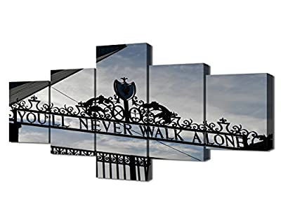 TUMOVO Shankly Gate 5 Piece Painting on Canvas