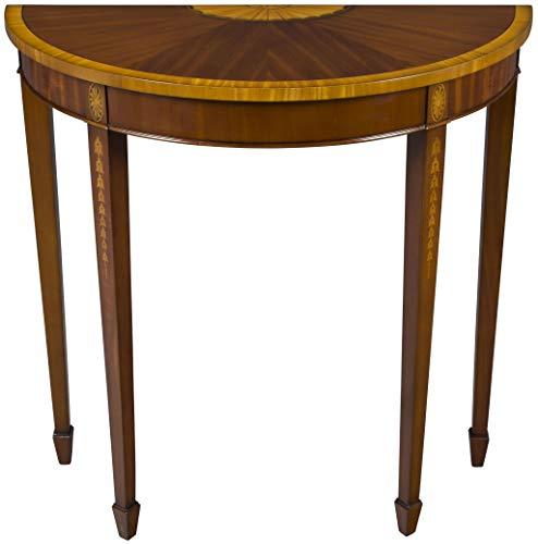 English Mahogany Side Table - English Classics Mahogany Demi Lune Hall Side Table