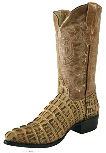 Tail Crocodile Made J Toe Western Sand Cut Leather Alligator Men's Boots Hand Cowboy wSZIqw