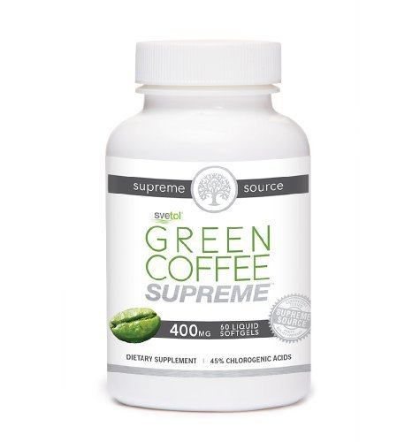 Green Coffee Bean Supreme made with Pure Svetol. All Natural - Premium Quality - Proven Weight Loss Supplement and Appetite Suppressant - No Artificial Additives - Satisfaction Guaranteed - 100% Money Back Guarantee