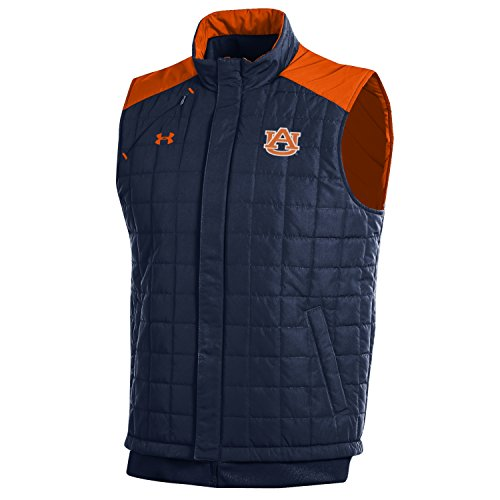 Under Armour NCAA Auburn Tigers Men's Puffer Vest, Navy, ()