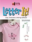 Amazing Designs LETTER IT! Embroidery Machine Software