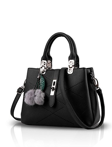 Totes Sint¨ And Leather Shoulder Women tica Bag Is Ladies Shoulder Minetom Bag Bag Work Bag With Purse For Messenger Casual Hand Black Strap Pu TxHdqzw