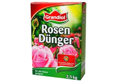 Grandiol Rosendünger 2,5Kg für alle Rosen geeignet organisch/mineralischer Dünger